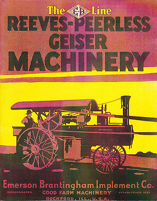 1918 Reeves-Peerless Geiser Machinery Traction Engine Catalog reprint
