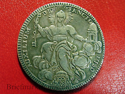 Rare 1780 Italy Papal States Vatican Large Silver 1 Scudo