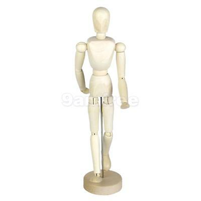 Wooden Wood Figure Manikin Mannequin Human Artist Drawing Model Male 30cm