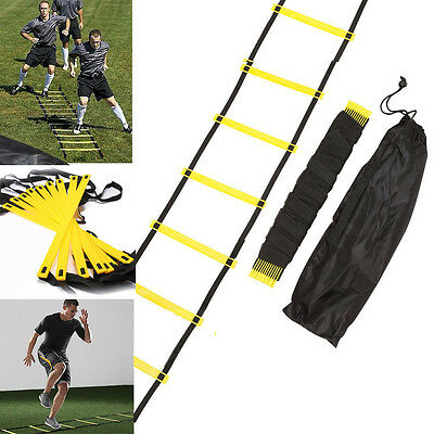 12 Rung Agility Ladder for Speed Soccer Football Fitness Feet Training Yellow