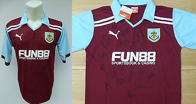 2011-12 Burnley Home Shirt Signed by Squad (8168)
