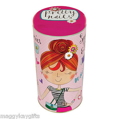 Pretty Nails - Lipstick Stackable Tin Polish Girls Storage Make-up Rachel Ellen