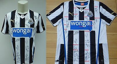 2013-14 Newcastle United Home Shirt Signed by Squad (8169)