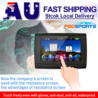 "5"" Motorcycle Car HD 256M RAM 8GB Waterproof GPS Navigator SAT Bluetooth FM+Map"