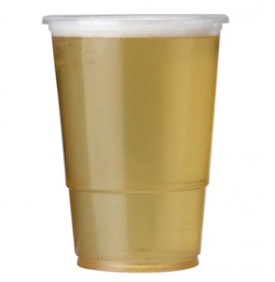 * Clear Disposable Plastic Half Pint Glasses 1 Sample to 1000 x (CPG004)