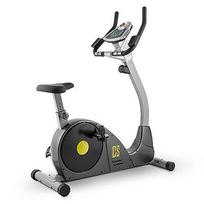 Home Exercise Bike Fitness Upright Bicycle Cardio Workout Training Grey Yellow