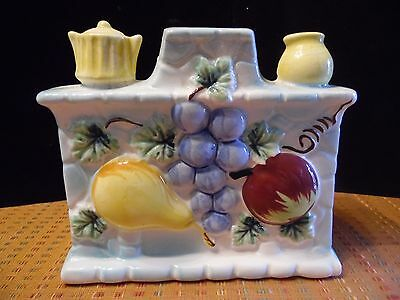Vintage Ceramic Stove Hearth Fruit Wall Pocket