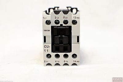 TECO CU-11 magnetic contactor, 24A, 3 phase, 110V coil 3A1a N/O (TAIAN CN-11)