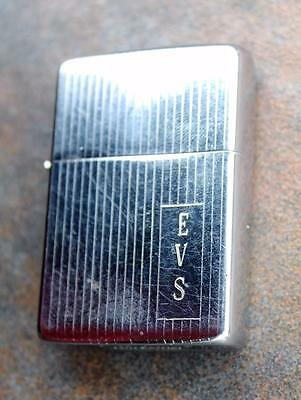 Vintage 1965 ZIPPO Lighter Vertical Line Chrome engraved EVS