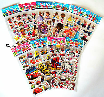 3D Cartoon Character Stickers Party Bag Fillers Christmas Stocking Gift School