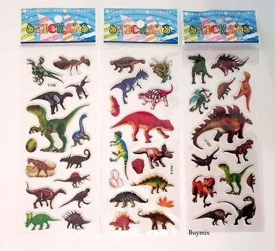 Dinosaur Stickers Children Party Bag Fillers Gifts Crafts School Stationery