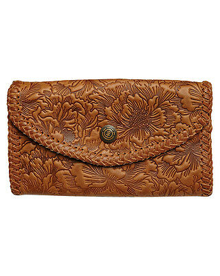 New Element Women's Peony Womens Leather Wallet Purse Brown