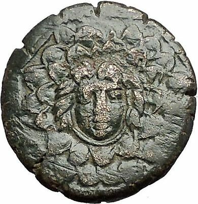 AMISOS in PONTUS MITHRADATES VI the GREAT Gorgon Aegis Nike Greek Coin i55755