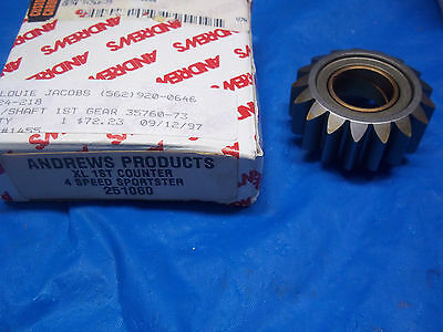 Harley Sportster Ironhead AndrewsTransmission Countershaft Low 1st Gear 73-E84