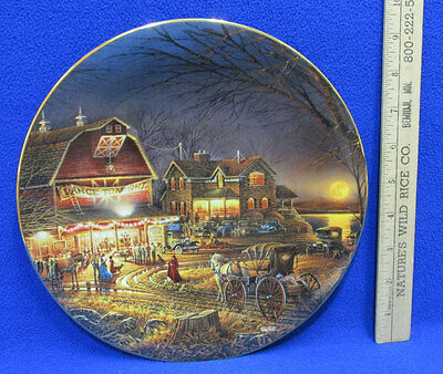 Terry Redlin Collectors Plate Harvest Moon Ball Hadley Limited Numbered 1304