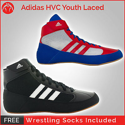 Brand New Adidas HVC Youth Laced Wrestling Shoes with FREE WRESTLING SOCKS!