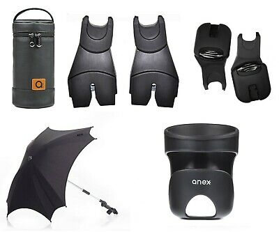 Anex/Tutek pram accessories umbrella, bottle thermal bag, car seat adapters