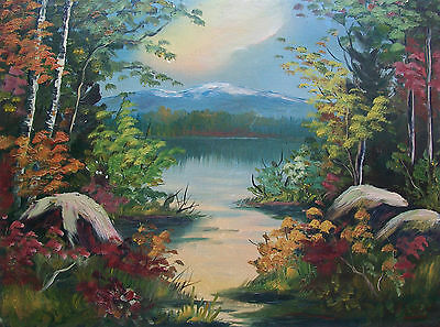 R LUDWIG - Folk Art Oil Painting on Panel - Signed - Canada - Early 20th Century