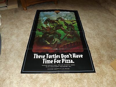 "Teenage Mutant Ninja Turtles - A.c. Farley Art 22"" X 34"" Folded Poster - Nice"