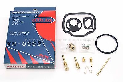 New Carburetor Rebuild Kit 60-69 Honda C110 C111 C115 Carb Repair Parts #Z19