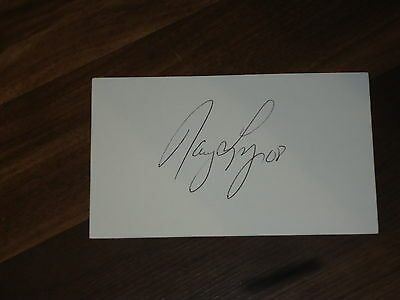 Nancy Lopez Signed 3x5 index Card