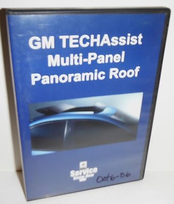 Techassist Multi-Panel Panoramic Roof  Gm Service Know Instrucional Video Dvd