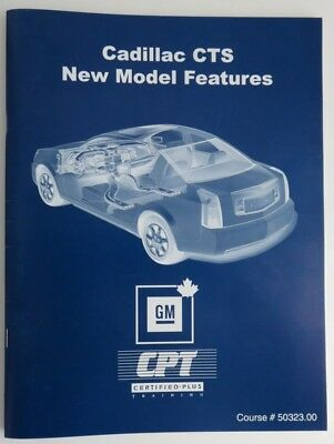 Cadillac Cts New Model Features Gm Service Know How Manual   (Inv1862)