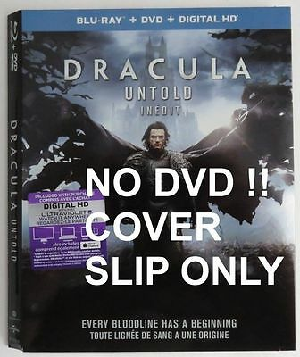 No Discs !! Dracula Untold  Blue-Ray Dvd Cover Slip Only - No Discs !! (Inv3376)
