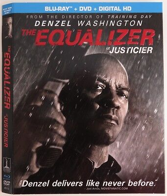 No Discs !! The Equalizer Blue-Ray Cover Slip Only - No Discs !!   (Inv1671)