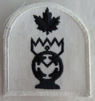 Royal Canadian Navy Electrical Tech. Patch Badge - Dark Blue Thread  (Inv2673)
