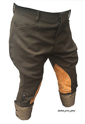 US WWI Officer Wool Whipcord Riding Breeches Size 34