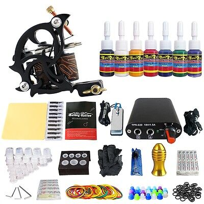 Solong Tattoo Kit de Tatouage 1 Machine à Tatouer Aiguille Encre Ink TK105-26