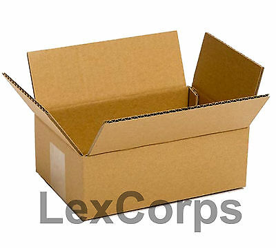 SHIPPING BOXES 25 Pack 8x6x4 Mailing Moving Box Cardboard Storage Carton Packing