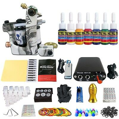 Solong Tattoo Kit de Tatouage 1 Machine à Tatouer Aiguille Encre Ink TK105-34