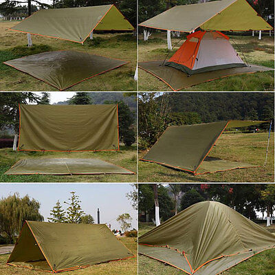 All Weather Tent Waterproof Tarp Canopy for Shelter Survival Backpacking Camping