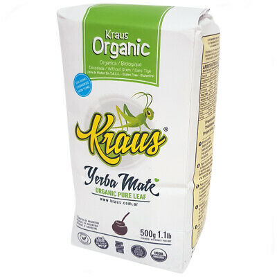 Yerba Mate Kraus | Pure Leaf | Organic | Smoke Free (Multiple Options)