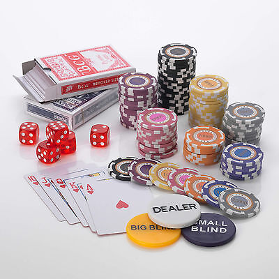 500pcs Poker Chip Set 14G, Extra High Value 100/500/1000/5000/10000/25000/50000