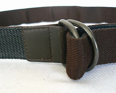 CEINTURE réversible en sangle Bi-colore marron gris 1,30 cm Mode Homme 7d0b0b282dd