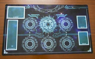 F152 FREE MAT BAG Custom Made Playmat Cardfight Vanguard G Play Mat Light Blue