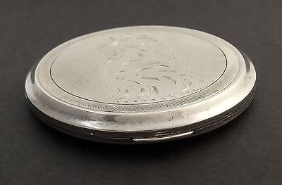 Vintage Sterling Silver Makeup Compact CCLCC Canada Round 84g Incl Mirror EMPTY