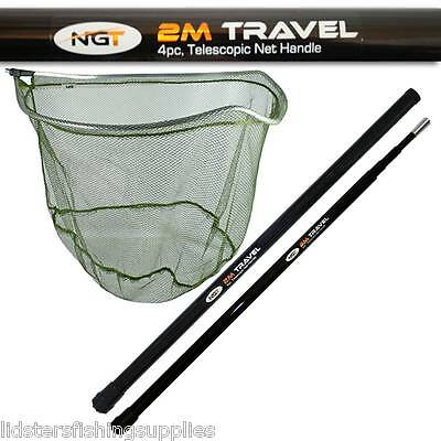 NGT Scoop Landing Net for Match Fish Coarse Fishing + 2M Travel Tele Handle