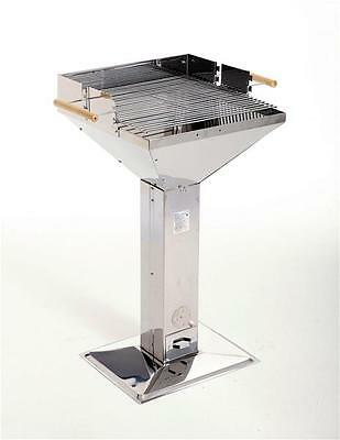 GRILL CHEF Trichtergrill / Holzkohlegrill Edelstahl 48x46,5cm 11282