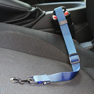 Me & My Strong Pet/dog Car Travel Seat Belt Clip Lead Restraint Harness In Blue