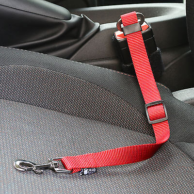 Me & My Strong Pet/dog Car Travel Seat Belt Clip Lead Restraint Harness In Red