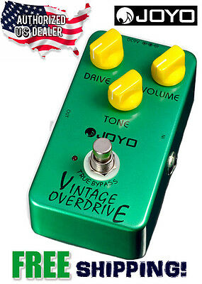 JOYO JF-01 Vintage Overdrive Effects Pedal FX Drive Stompbox True Bypass USA
