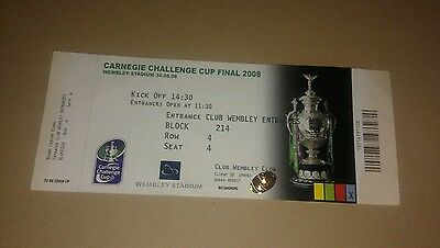 St Helens v Hull fc Challenge Cup Final ticket 2008 Wembley
