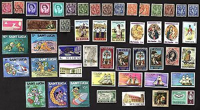 50 All Different  ST. LUCIA STAMPS (VARIED YEARS)