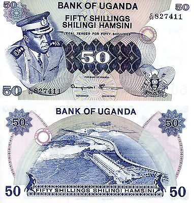 UGANDA 50 Shillings Banknote World Paper Money Currency Note p8c Idi Amin Bill