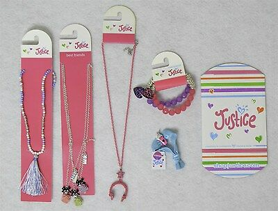 Justice Girls Jewelry Accessory Mixed Lot w/ Headphones Chain 5 Pieces as Shown