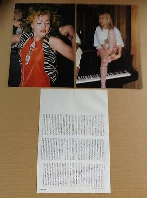 1986 Cyndi Lauper 4pg 2 photo JAPAN mag article / press clipping cutting  cl9r